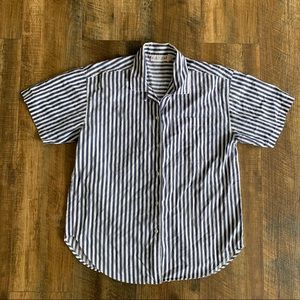Vintage 90s Should Pad Striped Blouse